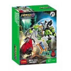 Decool 10507 Jisi 10507 Xếp hình kiểu Lego HERO FACTORY BREEZ Flea Machine Hero Factory Qingfeng Bounce Machine Cỗ Máy Chiến Đấu Của Breez 102 khối