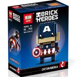 Lepin 43015 Decool 6816 Bela 10766 (NOT Lego BrickHeadz 41589 Captain America ) Xếp hình Đội Trưởng Mỹ 88 khối