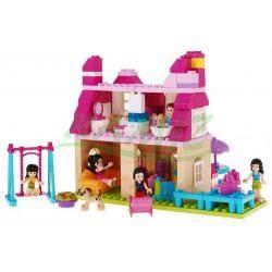 Jun Da Long Toys JDLT 5229A Xếp hình kiểu LEGO Duplo Pretty Girls' House Ngôi Nhà Của Các Cô Gái 146 khối