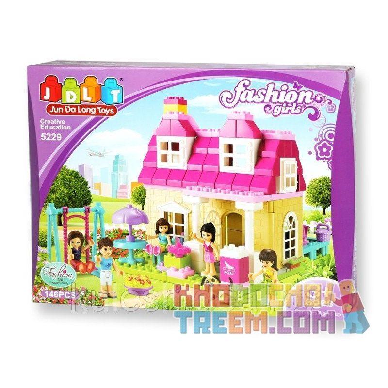 Jdlt Judalongtoys 5229A (NOT Lego Duplo Pretty Girls' House ) Xếp hình Ngôi Nhà Của Các Cô Gái 146 khối