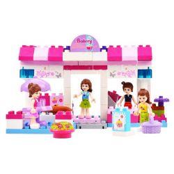 Jun Da Long Toys JDLT 5231A Xếp hình kiểu LEGO Duplo Interesting Girls' Bakery Cửa Hàng Bánh Thú Vị Của Các Cô Gái 100 khối