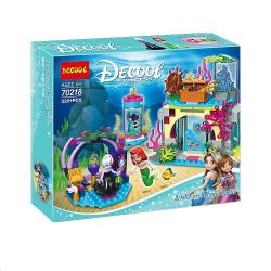 Decool 70218 Jisi 70218 LEPIN 25010 SHENG YUAN SY SY948 Xếp hình kiểu Lego DISNEY PRINCESS Ariel And The Magical Spell Little Mermaid And Magic Spell Nàng Tiên Cá Và Lời Nguyền Ma Thuật 222 khối