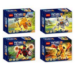 Decool 8011 8012 8013 8014 Bela 10511 10512 10513 10514 (NOT Lego Nexo Knights 70336 70337 70338 70339 Ultimate Axl Ultimate Lance Ultimate General Magmar Ultimate Flama ) Xếp hình Gã Khổng Lồ Axl,