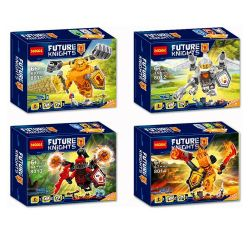Bela 10511 10512 10513 10514 Lari 10511 10512 10513 10514 Decool 8011 8012 8013 8014 Jisi 8011 8012 8013 8014 SHENG YUAN SY SY722D 722D Xếp hình kiểu Lego NEXO KNIGHTS Ultimate Axl Ultimate Flama Ulti