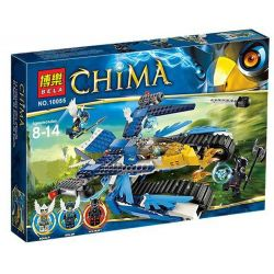 Bela 10055 Lari 10055 Xếp hình kiểu Lego LEGENDS OF CHIMA Equila's Ultra Striker Legend Of Qigong Anti-Sky Eagle Phi Thuyền Của Chiến Binh Đại Bàng Equila 339 khối