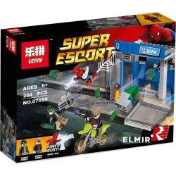 Lepin 07089 Bela 10742 Sheng Yuan 944 SY944 (NOT Lego Marvel Super Heroes 76082 Atm Heist Battle ) Xếp hình Người Nhện Bảo Vệ Cây Rút Tiền 204 khối