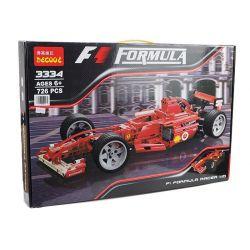 Decool 3334 Jisi 3334 YILE 005 Xếp hình kiểu Lego RACERS Ferrari F1 Racer 1 10 Ferrari F1 Racing 1 10 Xe đua Công Thức 1 Tỉ Lệ 1 10 738 khối