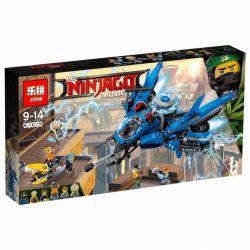 Bela 10721 Lari 10721 LELE 31073 LEPIN 06050 Xếp hình kiểu THE LEGO NINJAGO MOVIE Lightning Jet Thunder, Thunder Fighter Máy Bay Tia Chớp Của Jay 876 khối