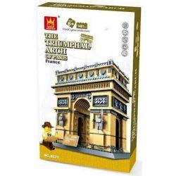 WANGE DR.LUCK 5223 8021 Xếp hình kiểu Lego MINI MODULAR The Triumphal Arch Of Paris Triumph In Paris, France Cổng Khải Hoàn Môn 1401 khối