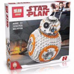 Lepin 05128 Bela 10906 (NOT Lego Star wars 75187 Viii Bb-8 ) Xếp hình Hành Tinh Robot Viii Bb-8 1238 khối