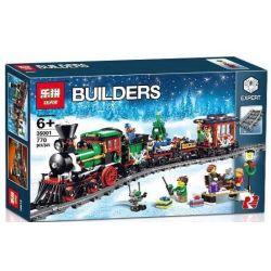 LEPIN 36001 SHENZHEN RAEL ENTERTAINMENT 20001 SUPER 18K K008 Xếp hình kiểu Lego CREATOR EXPERT Winter Holiday Train Winter Quarter Fake Train Đoàn Tàu Giáng Sinh 734 khối