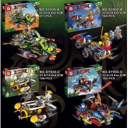 SHENG YUAN SY 930 SY930 SY930-A 930-A SY930-B 930-B SY930-C 930-C SY930-D 930-D Xếp hình kiểu THE LEGO NINJAGO MOVIE Phantom Ninja Combination Carrier 4 Cuộc Đua Của Các Ninja gồm 6 hộp nhỏ 766 khối