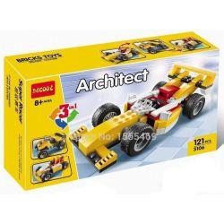 Decool 3106 (NOT Lego Creator 31002 Super Racer ) Xếp hình Xe Đua, Mô Tô 4 Bánh 121 khối