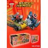 Lepin 07028 (NOT Lego Marvel Super Heroes 76065 Mighty Micros: Captain America Vs. Red Skull ) Xếp hình Đội Trưởng Mỹ Đại Chiến Đầu Lâu Đỏ 95 khối