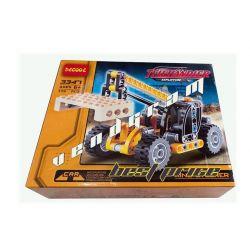 Decool 3347 (NOT Lego Technic 8045 Mini Telehandler ) Xếp hình Xe Cẩu Nâng Hàng Màu Vàng Đen (Mẫu 1) 119 khối