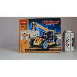 NOT Lego TECHNIC 8045 Mini Telehandler, BRICKCOOL 3347 3351 Xếp hình Xe Cẩu Nâng Hàng Màu Vàng đen (Mẫu 1) 117 khối