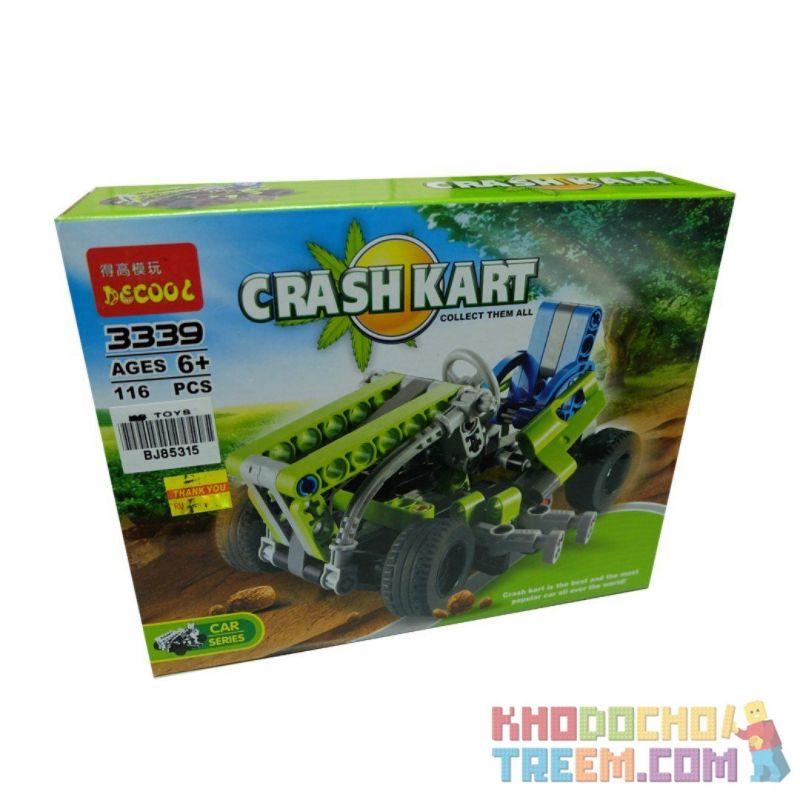 Decool 3339 (NOT Lego Technic 8256 Go Kart Style 2 ) Xếp hình Xe Mô Tô 4 Bánh Địa Hình (Mẫu 2) 144 khối