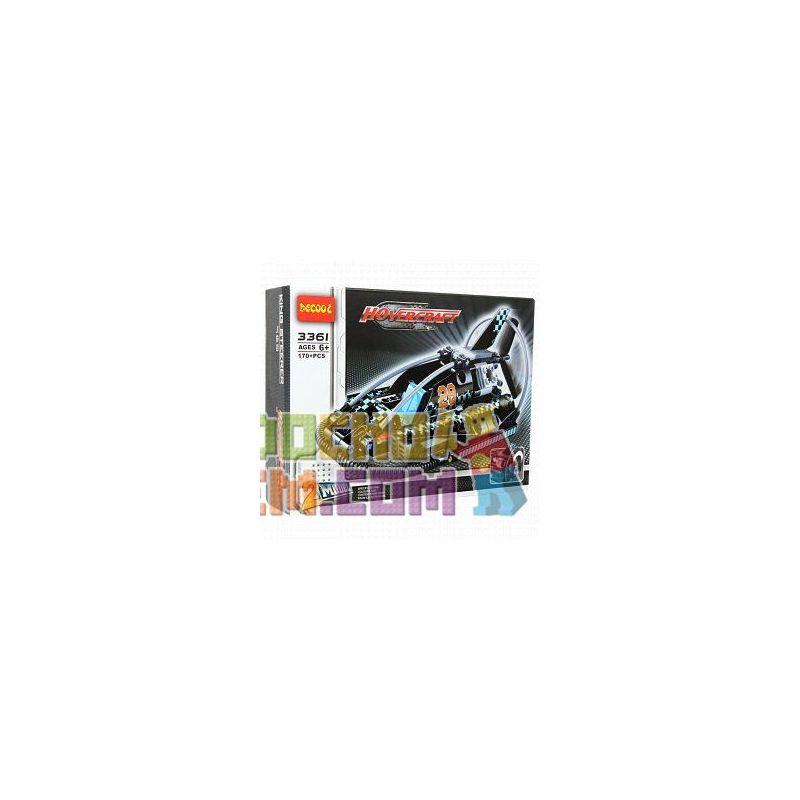 Decool 3361 (NOT Lego Technic 42002 Hovercraft ) Xếp hình 2 Dạng Máy Bay Cánh Quạt Nhỏ Và Tàu Đệm Khí 170 khối