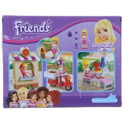 NOT Lego FRIENDS 41092 Stephanie's Pizzeria, Bela 10535 Lari 10535 Xếp hình quán Pizza của Stephanie 87 khối