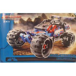 NOT Lego TECHNIC 42010 Off-road Racer, Decool 3411 Jisi 3411 SHENG YUAN SY 7010A Xếp hình Xe đua Off Road 160 khối có động cơ kéo thả
