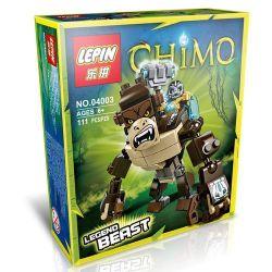 Bela 10070 Lari 10070 Kazi KY98053-3 98053-3 LEPIN 04003 Xếp hình kiểu Lego LEGENDS OF CHIMA Gorilla Legend Beast Legend Of Qigong Khỉ đột Huyền Thoại 106 khối