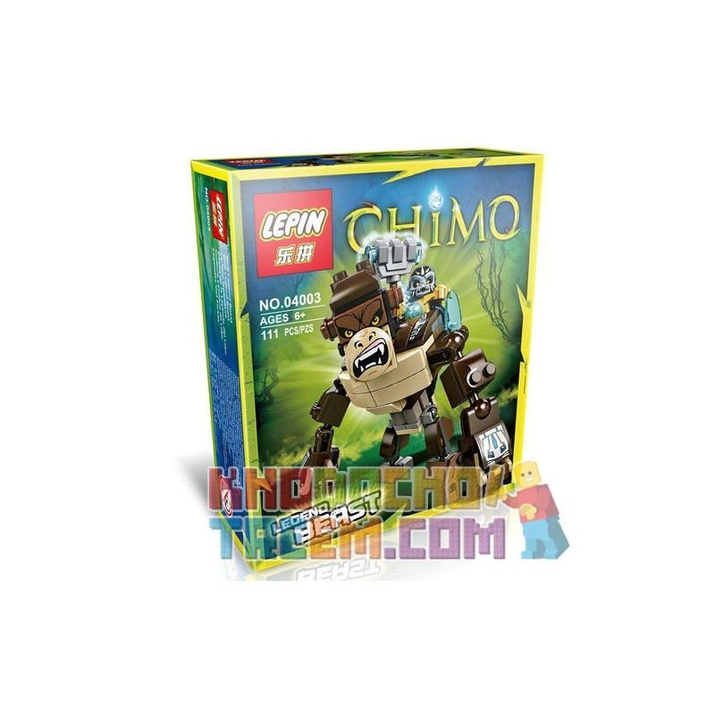 Bela 10070 Lepin 04003 Kazi Gao Bo Le Gbl Bozhi 98053-3 (NOT Lego Legends of Chima 70125 Gorilla Legend Beast ) Xếp hình Khỉ Đột Huyền Thoại 106 khối