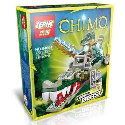Bela 10071 Lepin 04004 Kazi Gao Bo Le Gbl Bozhi 98053-4 (NOT Lego Legends of Chima 70126 Crocodile Legend Beast ) Xếp hình Cá Sấu Huyền Thoại 121 khối