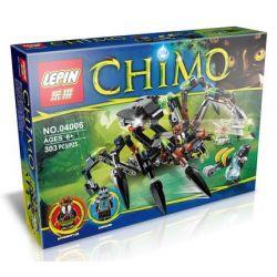 Bela 10075 Lari 10075 LEPIN 04006 Xếp hình kiểu Lego LEGENDS OF CHIMA Sparratus' Spider Stalker Legend Of Qigong Spider Tracker Tracker Cỗ Máy Nhện Khổng Lồ Của Sparratus 292 khối