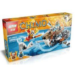 Bela 10350 Lepin 04013 Kazi Gao Bo Le Gbl Bozhi 98073 (NOT Lego Legends of Chima 70220 Strainor's Saber Cycle ) Xếp hình Xe Trượt Hổ Răng Kiếm 161 khối