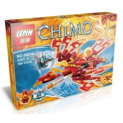 Bela 10351 Lepin 04014 Lele 79075 Kazi Gao Bo Le Gbl Bozhi 98072 (NOT Lego Legends of Chima 70221 Flinx's Ultimate Phoenix ) Xếp hình Cỗ Máy Phượng Hoàng Của Flinx 172 khối