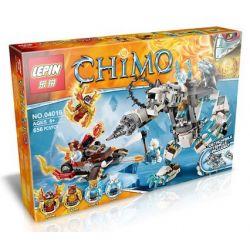 Bela 10355 Lari 10355 LEPIN 04016 Xếp hình kiểu Lego LEGENDS OF CHIMA Icebite's Claw Driller Qigong Legend Ice Bear King's Super Barrie Giant Bear Rô Bốt Khoan Móng Vuốt Của Icebite 629 khối