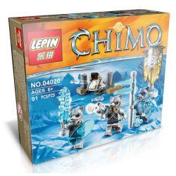 Lepin 04020 Lele 78088D Elephan JX70001C (NOT Lego Legends of Chima 70232 Saber Tooth Tiger Tribe Pack ) Xếp hình Bộ Lạc Hổ Răng Kiếm 74 khối
