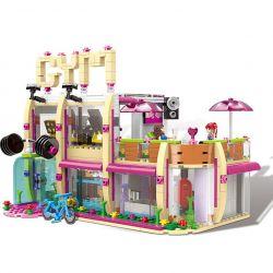 XINGBAO XB-12002 12002 XB12002 Xếp hình kiểu Lego CityGirl Fitness Hut City Girl Gym Phòng Tập Thể Thao Của Những Cô Gái Campus 905 khối