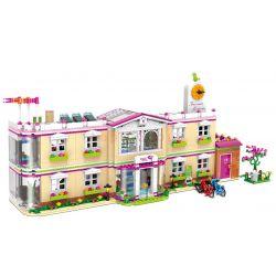 XINGBAO XB-12001 12001 XB12001 Xếp hình kiểu Lego CityGirl Happy University City Girl Happy Teaching Building Trường Học 1750 khối