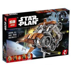 LEPIN 05111 Xếp hình kiểu Lego STAR WARS Jakku Quadjumper Jiaku Siyue Spacecraft Thoát Khỏi Jakku Bằng Tàu Quadjumper 457 khối