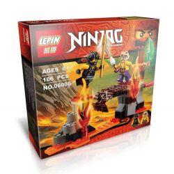 Lepin 06008 Bela 10316 Sheng Yuan 358 SY358 (NOT Lego Ninjago Movie 70753 Lava Falls ) Xếp hình Chiến Đấu Tại Thác Nham Thạch 94 khối