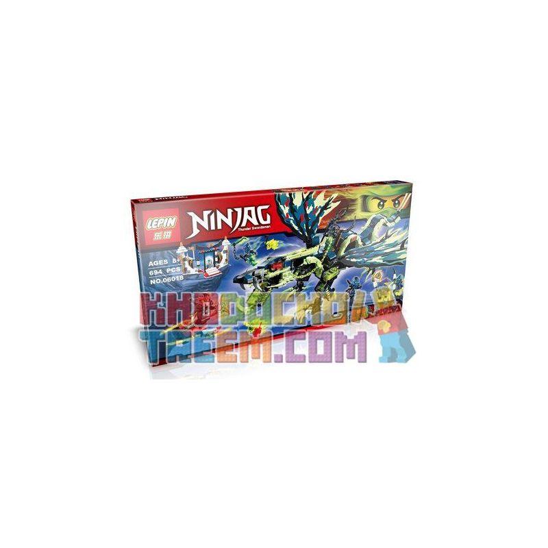 Lepin 06018 Bela 10400 Lele 79120 Sheng Yuan 389 SY389 (NOT Lego Ninjago Movie 70736 Attack Of The Morro Dragon ) Xếp hình Tấn Công Rồng Của Morro 694 khối