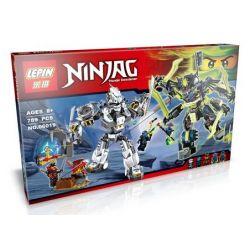 Bela 10399 Lari 10399 LELE 79121 LEPIN 06019 SHENG YUAN SY SY397 Xếp hình kiểu THE LEGO NINJAGO MOVIE Titan Mech Battle Titan Robot Trận Chiến Các Rô Bốt Titan 754 khối