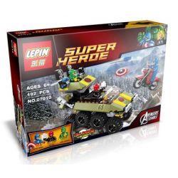 Bela 10238 Lari 10238 LEPIN 07010 Xếp hình kiểu Lego MARVEL SUPER HEROES Avengers Captain America Vs. Hydra American Team Long Battle Red Đội Trưởng Mỹ đại Chiến Hydra 172 khối