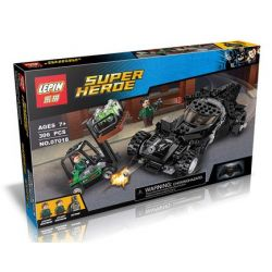 Decool 7117 Lepin 07018 (NOT Lego DC Comics Super Heroes 76045 Kryptonite Interception ) Xếp hình Người Dơi Chặn Bắt Trộm Đá Kryptonite 306 khối