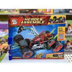 Sheng Yuan 7029 SY7029 (NOT Lego Super Heroes Heroes Assemble Spider Man ) Xếp hình Xe Đua Tốc Độ Của Người Nhện 170 khối