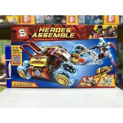 Sheng Yuan 7028 SY7028 (NOT Lego Super Heroes Heroes Assemble Iron Man ) Xếp hình Xe Đua Tốc Độ Của Người Sắt 228 khối