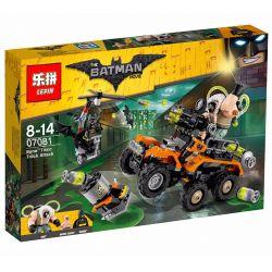 Decool 7130 Jisi 7130 LEPIN 07081 Xếp hình kiểu THE LEGO BATMAN MOVIE Bane Toxic Truck Attack Truck Attack Of Poisonous Solution Bane Tấn Công Bằng Xe Tải Phun độc 366 khối