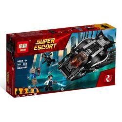 Bela 10837 Lari 10837 LEPIN 07099 Xếp hình kiểu Lego MARVEL SUPER HEROES Royal Talon Fighter Attack Royal Raptor Fighter Attack Báo đen Tấn Công Bằng Phi Thuyền Móng Vuốt Hoàng Gia 358 khối