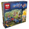 Lepin 14017 Bela 10516 (NOT Lego Nexo Knights 70319 Macy's Thunder Mace ) Xếp hình Mô Tô Chùy Sấm Sét Của Macy 225 khối