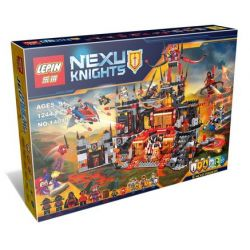 Bela 10521 Lari 10521 LELE 79309 LEPIN 14019 Xếp hình kiểu Lego NEXO KNIGHTS Jestro's Volcano Lair Clown Volcano Cave Hang ổ Nham Thạch Của Gã Hề Jestro 1186 khối