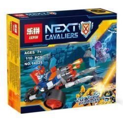 Bela 10590 Lari 10590 LEPIN 14025 Xếp hình kiểu Lego NEXO KNIGHTS King's Guard Artillery Royal 6-year-old Artillery Guard Vehicle Lính Canh đại Bác Của Nhà Vua 98 khối