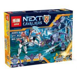 Bela 10594 Lari 10594 LEPIN 14026 Xếp hình kiểu Lego NEXO KNIGHTS Lance Vs. Lightning Lans Wars Flash Rock Strange Thương đấu Giáo Sét 257 khối