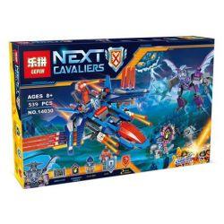 Lepin 14030 Sheng Yuan 865 SY865 Bela 10596 (NOT Lego Nexo Knights 70351 Clay's Falcon Fighter Blaster ) Xếp hình Phi Thuyền Chim Ưng Chiến Đấu Quái Vật Dơi Quỷ 539 khối