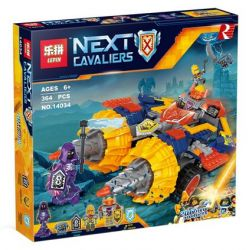Bela 10703 Lari 10703 LEPIN 14034 SHENG YUAN SY SY910 Xếp hình kiểu Lego NEXO KNIGHTS Axl's Rumble Maker Aixo's Rumbling Drill Cỗ Xe Mũi Khoan Của Axl 393 khối